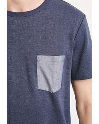 Forever 21 | Blue Herringbone Pattern Tee for Men | Lyst