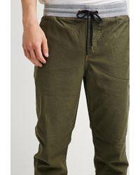 Forever 21 Natural 's Drawstring Canvas Pants for men