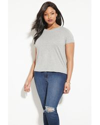 Forever 21 | Gray Plus Size Heathered Tee | Lyst