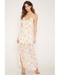 Forever 21 | Multicolor Rose Print Maxi Dress | Lyst
