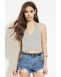 Forever 21 | Gray Classic Halter Top | Lyst