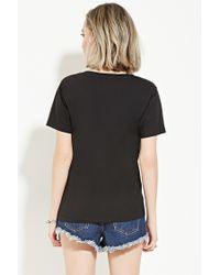 Forever 21 - Black Rather Be Eating Graphic Tee - Lyst