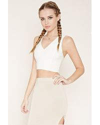 Forever 21 | White Caged Lace Crop Top | Lyst