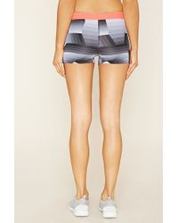 Forever 21 - Black Active Geo Print Shorts - Lyst