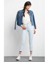 Forever 21 | Blue High-waisted Capri Jeans | Lyst