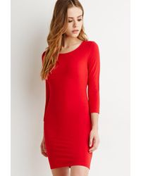 Forever 21 | Red Classic Midi Dress | Lyst