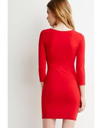 Forever 21 - Red Classic Midi Dress - Lyst