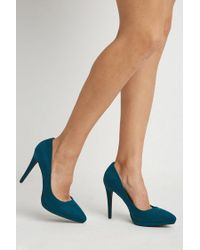 Forever 21 - Blue Pointed Faux Suede Pumps - Lyst