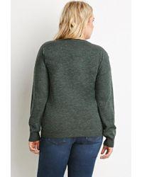 Forever 21 | Green Tassel-front Sweater | Lyst