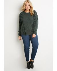 Forever 21 - Green Tassel-front Sweater - Lyst