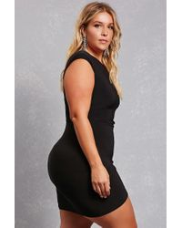 Forever 21 Black Plus Size Ruched Knit Dress