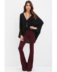 Forever 21 - Purple Classic Flared Pants - Lyst
