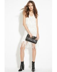 Forever 21 White Contemporary Sequined Shift Dress