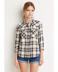 Forever 21 | Natural Tartan Plaid Shirt | Lyst