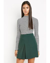 Forever 21 - Green Contemporary Paneled Crepe Skirt - Lyst
