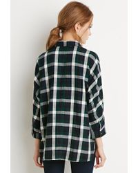 Forever 21 | Black Boxy Plaid Shirt | Lyst