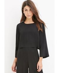 Forever 21 | Black Contemporary Dolman-sleeved Crop Top | Lyst