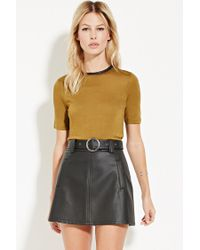 Forever 21   Green Contemporary Zip-back Top   Lyst