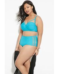Forever 21 | Blue Plus Size Caged Bikini Bottoms | Lyst