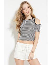 Forever 21 | Natural Linen-blend Drawstring Shorts | Lyst