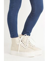Forever 21 | Natural Platform High-tops | Lyst