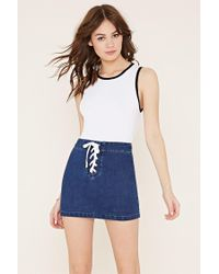 Forever 21 | White Ribbed Knit Crop Top | Lyst
