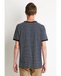 Forever 21 - Blue Striped Ringer Tee for Men - Lyst