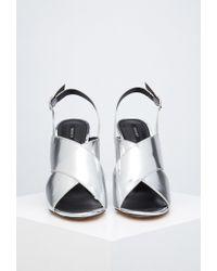 Forever 21 | Metallic Crisscross Stiletto Sandals | Lyst