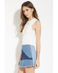 Forever 21 - White Contemporary Knit Top - Lyst