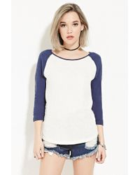 Forever 21 | Natural Classic Baseball Tee | Lyst