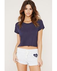 Forever 21 | Blue 67 Graphic Pj Shorts | Lyst