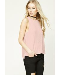 Forever 21   Pink Ribbed Knit Top   Lyst