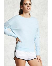 Forever 21   Blue Active Perforated Top   Lyst