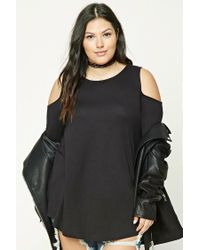Forever 21 | Black Plus Size Open-shoulder Tunic | Lyst