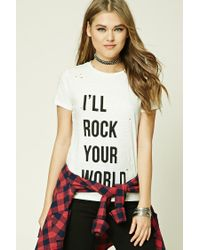 Forever 21 | Multicolor Rock Your World Graphic Tee | Lyst