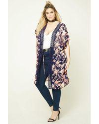 Forever 21   Blue Plus Size Self-tie Kimono   Lyst