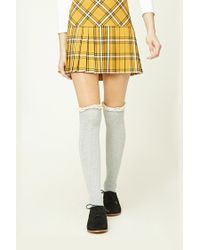 Forever 21 - Gray Over-the-knee Socks - Lyst