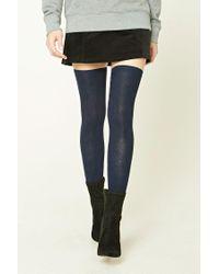 Forever 21 | Blue Over-the-knee Socks | Lyst