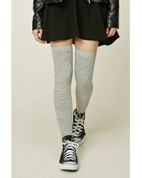 Forever 21 | Gray Over-the-knee Socks | Lyst