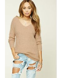 Forever 21 | Natural Faux Mohair Sweater | Lyst
