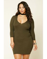 Forever 21 | Green Plus Size Bodycon Dress | Lyst