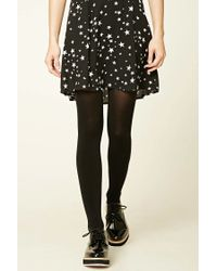 Forever 21 - Black Opaque Tights - 2 Pack - Lyst