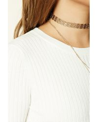 Forever 21 | Black Ribbed Knit Top | Lyst