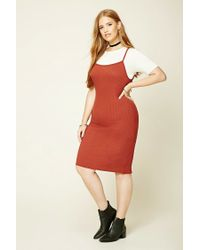 Forever 21 | Red Plus Size Midi Combo Dress | Lyst