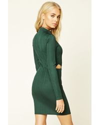 Forever 21 - Multicolor Cutout Bodycon Dress - Lyst