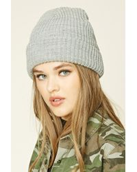 Forever 21 | Gray Classic Knit Beanie | Lyst