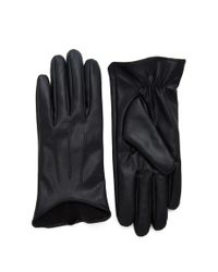 Forever 21 | Black Faux Leather Gloves | Lyst