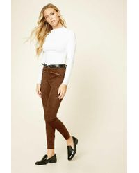 Forever 21   Brown Contemporary Faux Suede Pants   Lyst