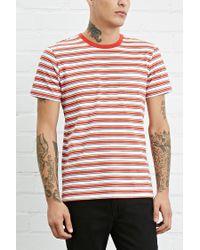 Forever 21 | Multicolor Stripe Pocket Tee for Men | Lyst