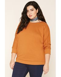 Forever 21 | Multicolor Plus Size Lace-up Sweatshirt Top | Lyst